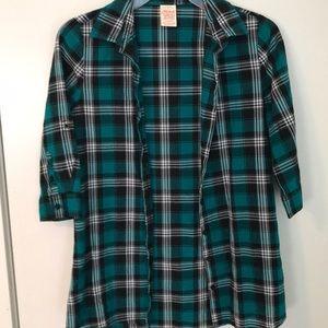 Quarter Sleeve Flannel